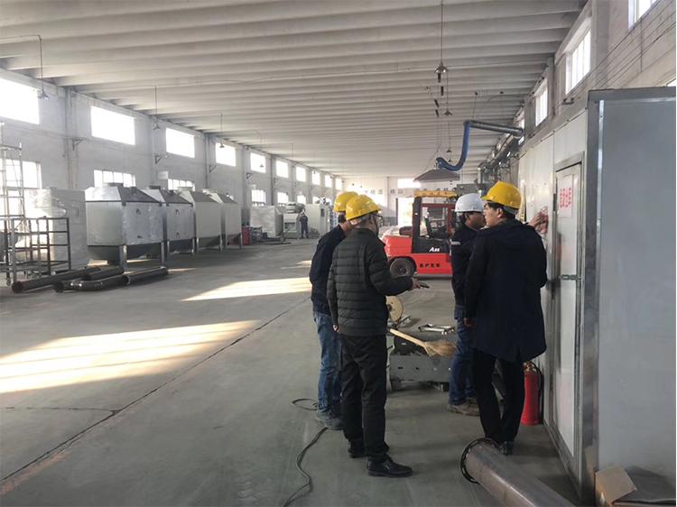催化燃烧设备生产车间